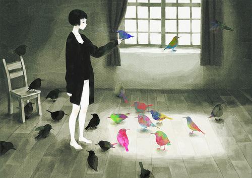 birds-colorful-cute-drawing-girl-illustration-Favim.com-53728