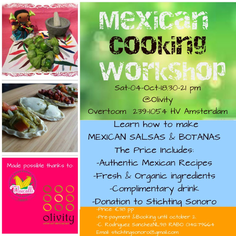 MEXICAN COOKING WORKSHOP SONORO