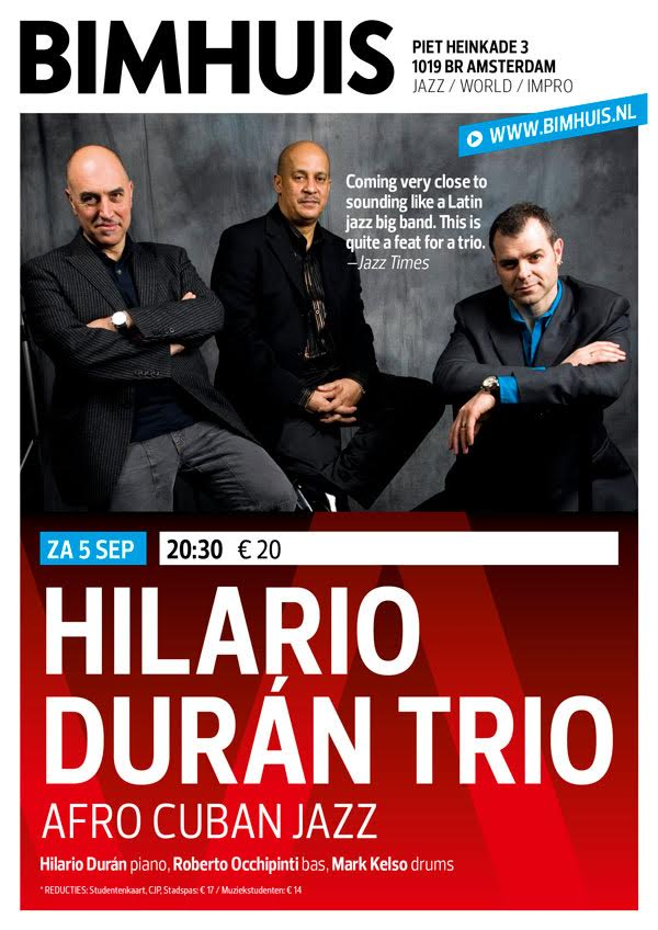 Za 5 sep Hilario Durán Trio